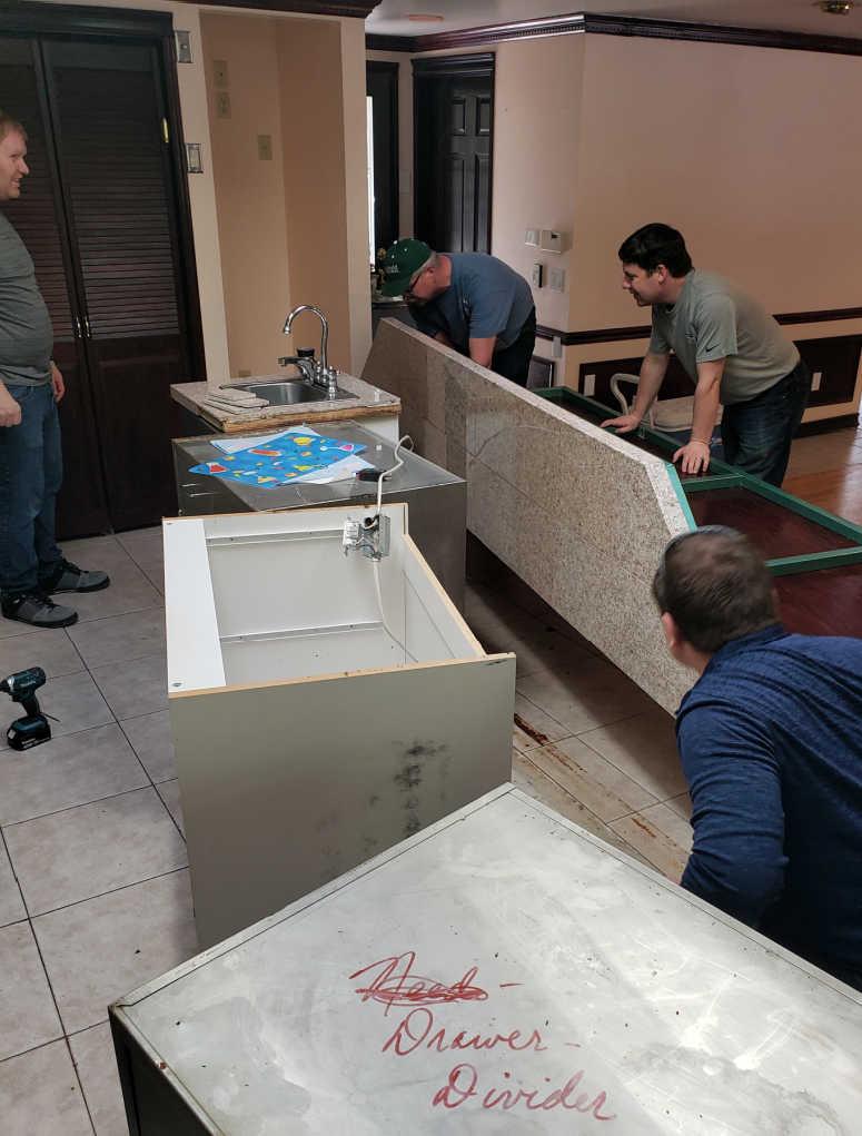 Kitchen being demolished for remodel