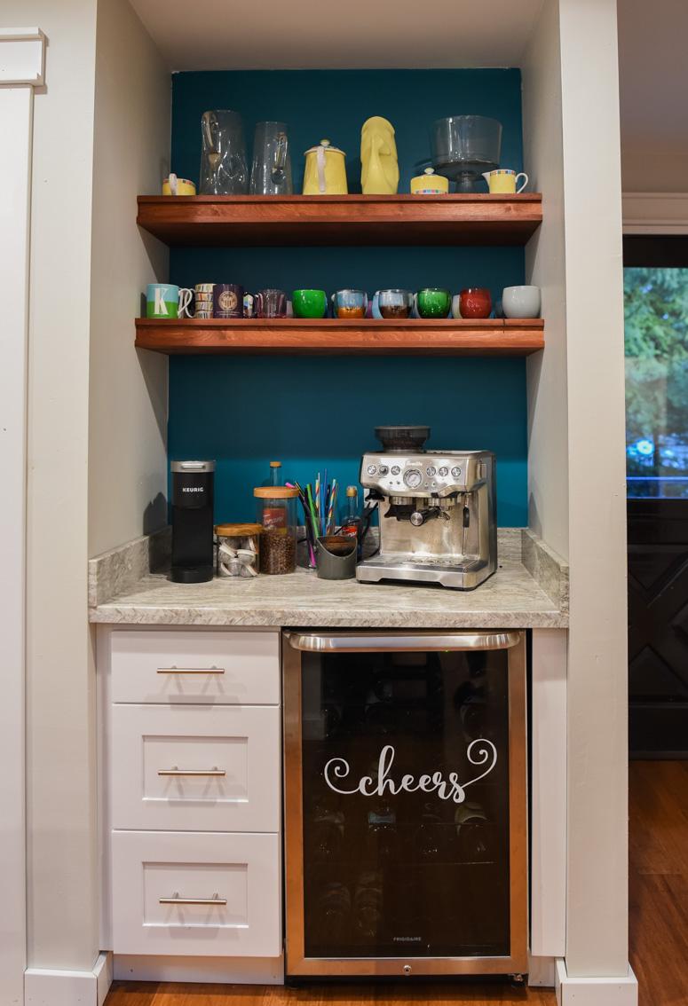 Custom Coffee bar in a kitchen