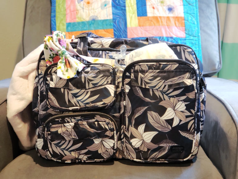 Lug Tote with baby items