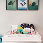 Products for Baby and Mom on a changing table