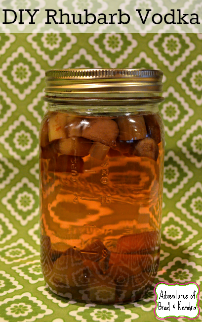 DIY Rhubarb Infused Vodka
